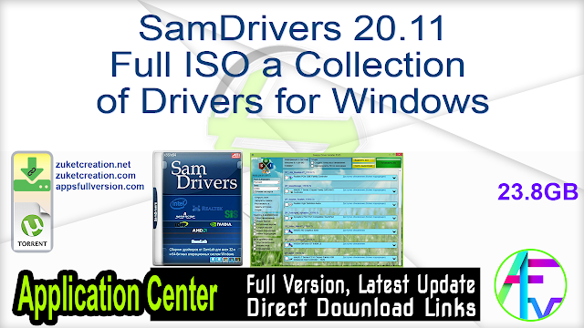 SamDrivers 20.11 Full ISO a Collection of Drivers for Windows
