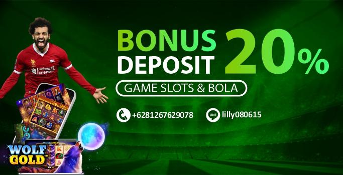 Bonus Deposit 20% Sportbook dan Slot