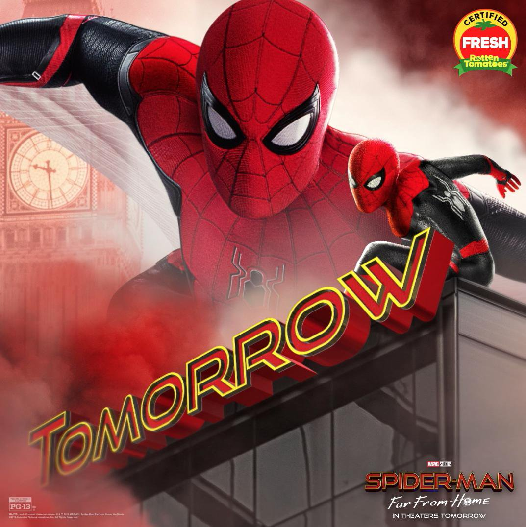 Spider Man: Far from Home (2019) ORG Dual Audio 720p BluRay [Hindi ORG+ English] ESubs