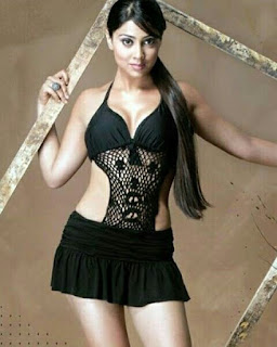 shriya saran in black bikni
