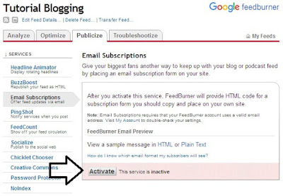 cara mengatasi email subsriptions error