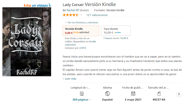 libro de rachel rp lady corsair