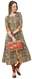 AnjuShree Choice Women Stitched Multi Colour Printed Cotton Kurti