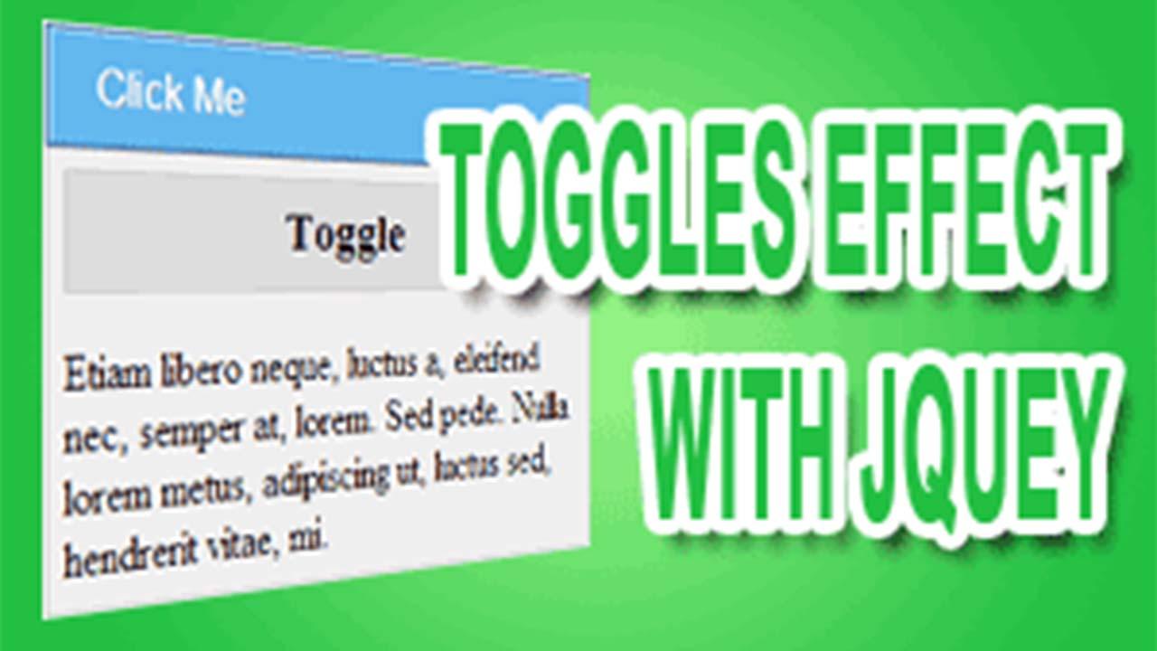 Efek Toggle Dengan Jquery