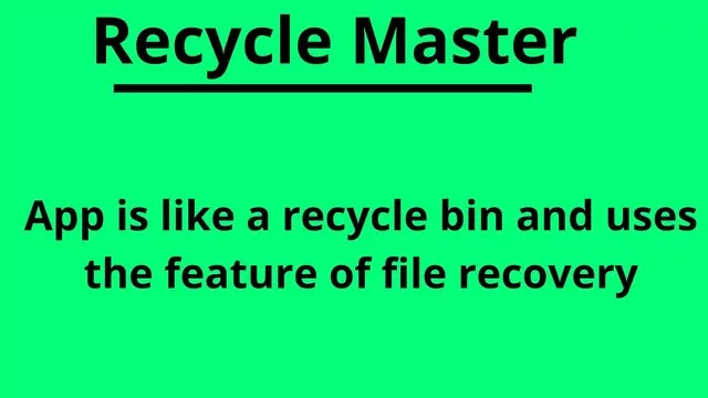 recycle master app