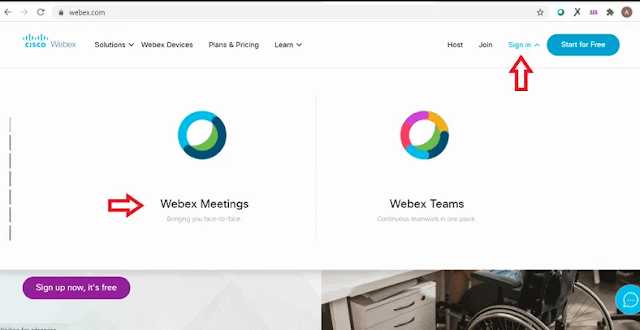 Sign Webex Meet