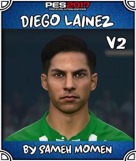 PES 2017 Faces Diego Lainez by Sameh Momen