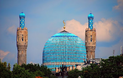 st petersburg mosque bukhara style, bukhara emirate mosque russia, uzbekistan art craft tours