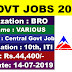 BRO Recruitment 2019 - Apply Now for 778 Driver Mechanical Transport, Electrician & Other post @www.bro.gov.in