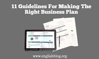 11 Guidelines For Making The Right Business Plan