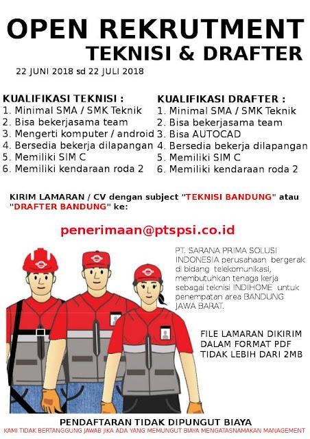 Lowongan Kerja PT. SPSI (INDIHOME)