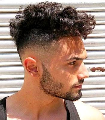 35 Modern Haircut For Men in 2020 - Curly undercut with a skin fade