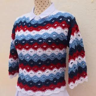 Blusa Primavera a Crochet
