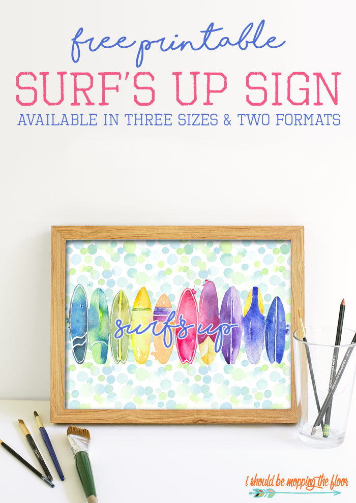 Surf's Up Sign