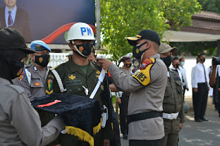 Polres Kota Probolinggo GelarApel Pasukan Ops Lilin Semeru 2020