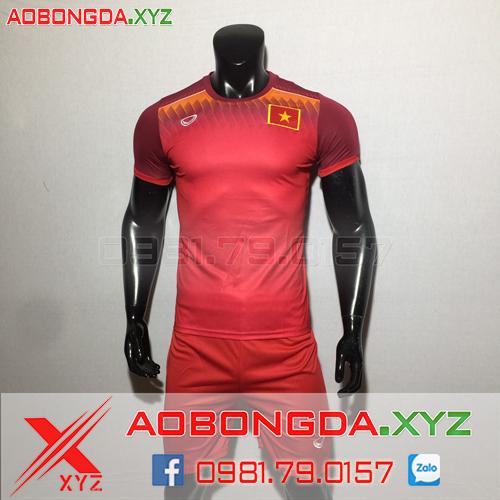 Áo Đội Tuyển Việt Nam 2019-2020 Training Màu Đỏ