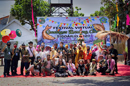 Semarak Festival Virtual Gunungan Bandeng Asap Sidoarjo