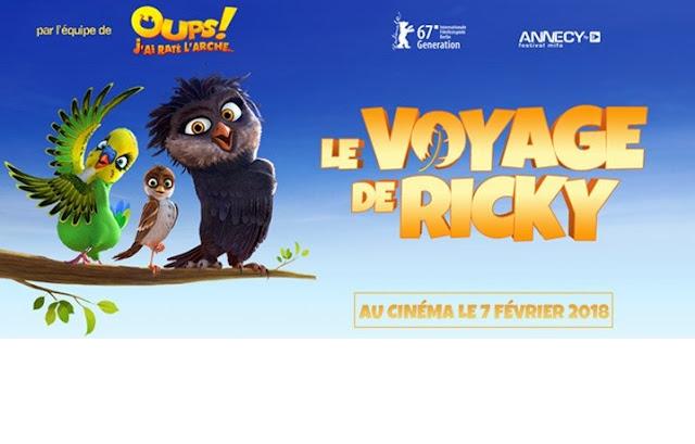 bannière sur le film le voyage de ricky