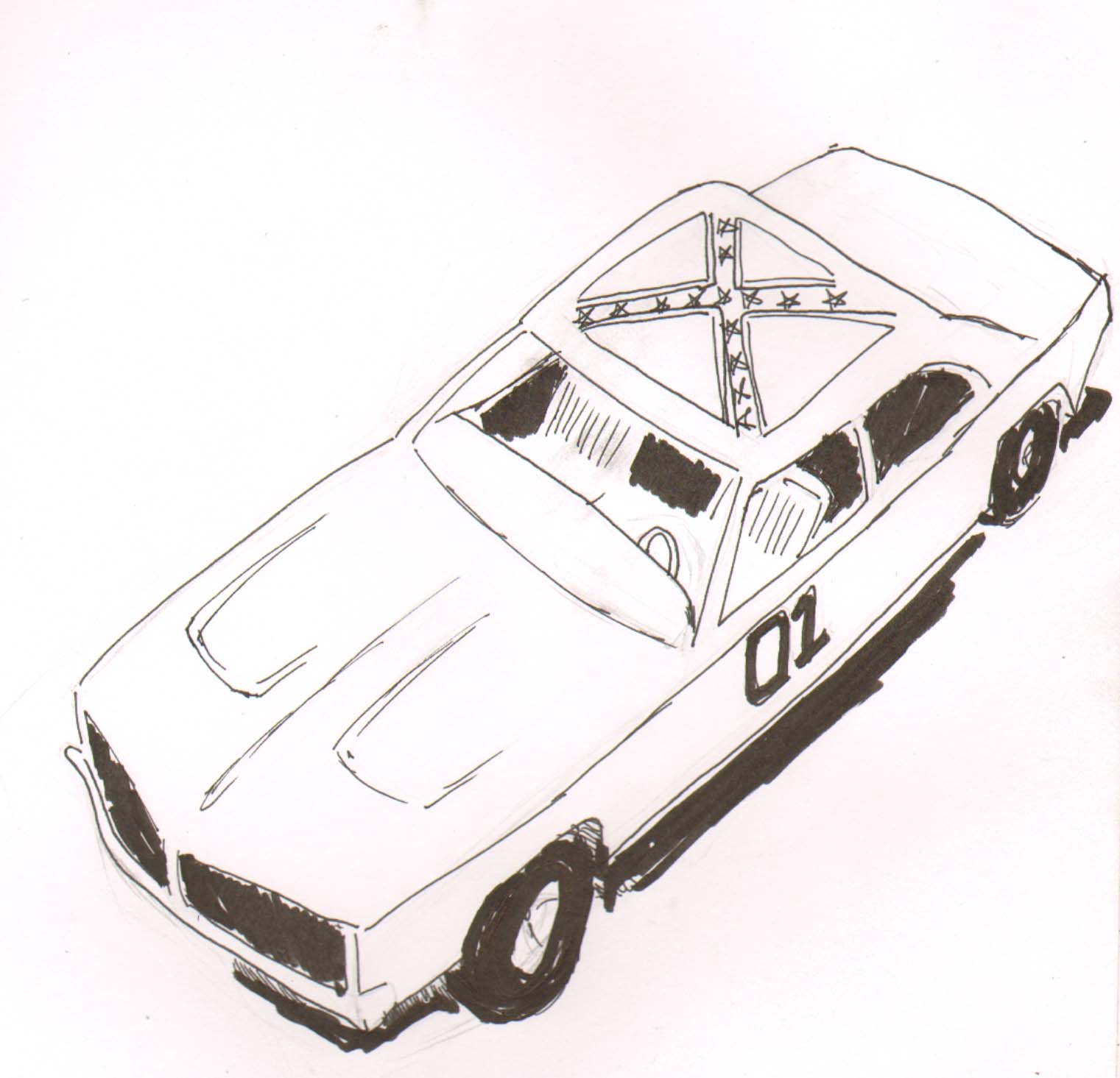 General Lee Car Coloring Pages | Coloring Pages