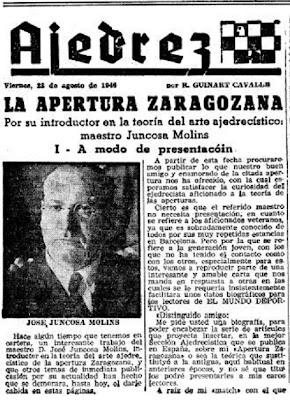 Artículo de Ricardo Guinart Cavallé sobre la Apertura Zaragozana, 1946 (1)