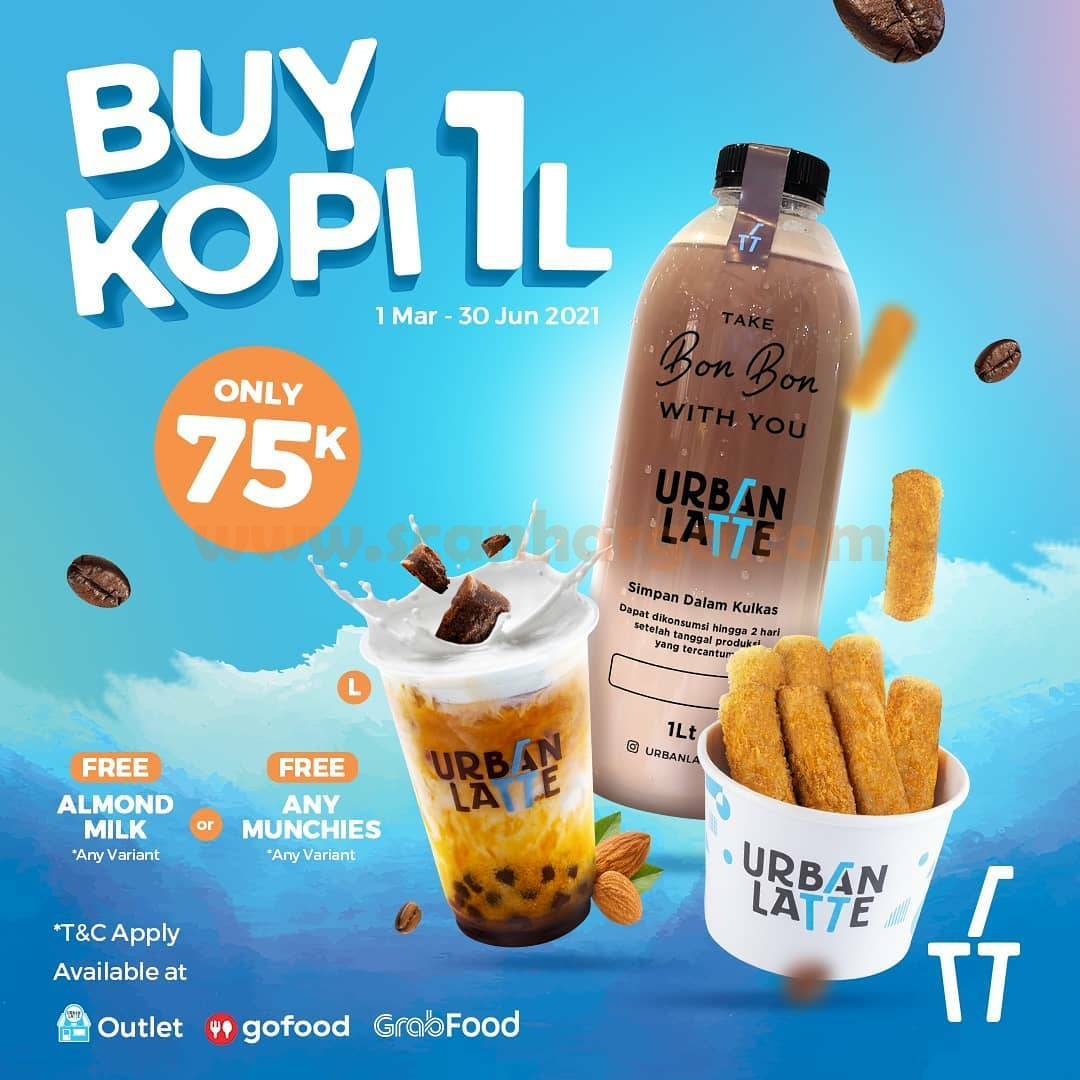 Promo Urban Latte Buy 1 Kopi 1L Only 75K Via GoFood & GrabFood