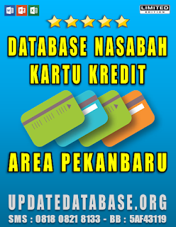 Jual Database Nasabah Kartu Kredit Pekanbaru