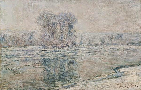 Claude Monet Glaçons, effet blanc. 1893