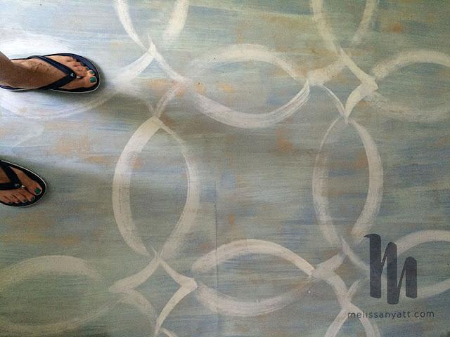 Melissa Hyatt, Studio, hand painted floor, Sketchbook Conversations