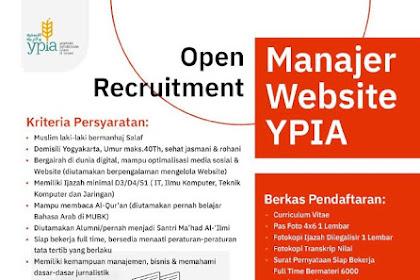 Lowongan Pekerjaan Manajer Website YPIA Yogyakarta