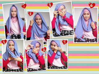 tutorial memakai jilbab pasmina