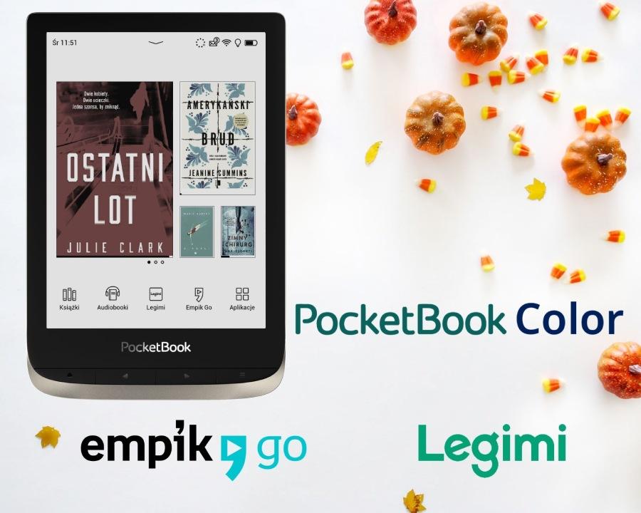 PocketBook Color z aktualizacją oprogramowani zyskuje dostęp do e-booków w Legimi i Empik GO