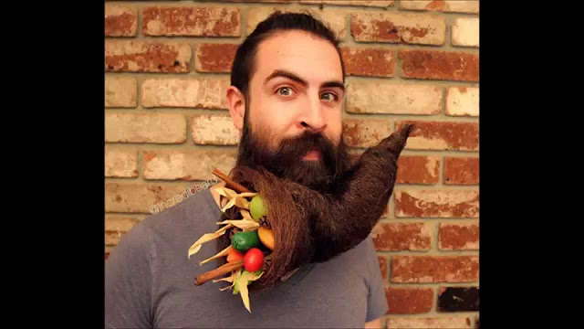 Barba em formato de reservatorio de frutas