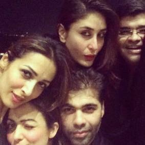 Kareena Kapoor, Malaika arora and Karan Johar's night out! party