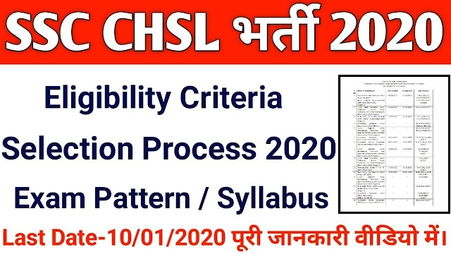 SSC CHSL Tier 1 Syllabus 2020 PA SA LDC DEO Online Exam Pattern