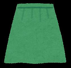 スカートのイラスト(緑)