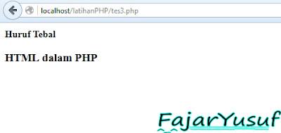 HTML dalam PHP
