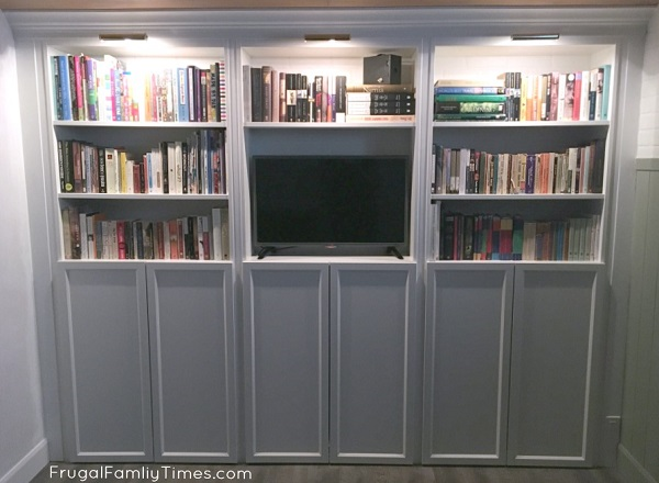 built in billy bookcases with doors