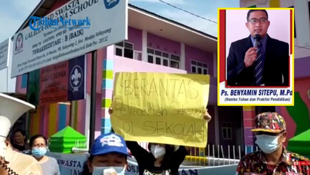 Polda Sumut Olah TKP di Sekolah Galilea Hosana School Terkait Kasus Cabul Pendeta BS