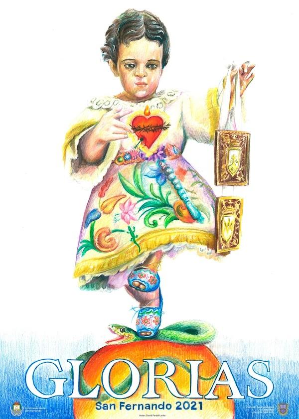El Niño Jesús de la Santísima Virgen del Carmen centra el cartel de las Glorias de San Fernando