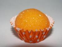 imagem de um brigadeiro de laranja