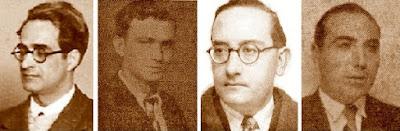 Los ajedrecistas Sunyer, A. Grau, Dr. Vallvé y Cunillera