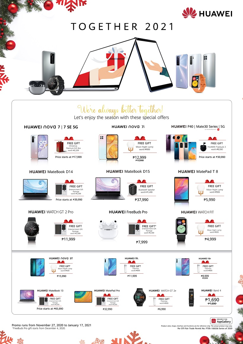 Huawei Together 2021 Christmas Promo