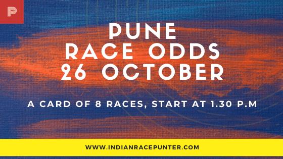 Pune Race Odds 26 October