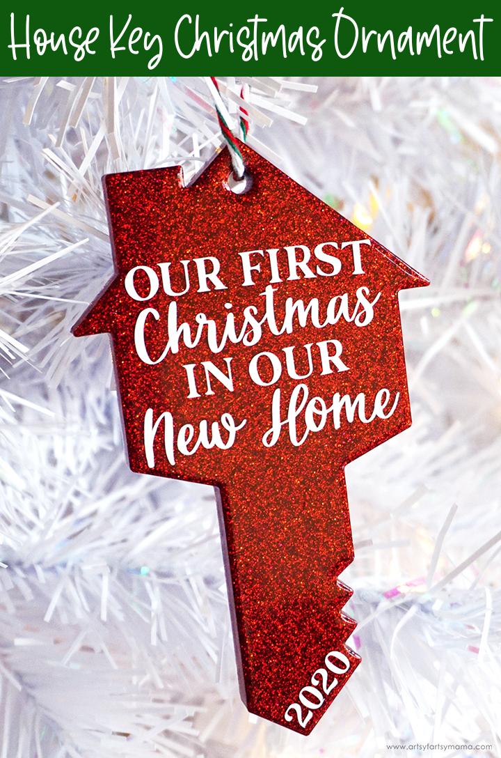Resin House Key Christmas Ornament