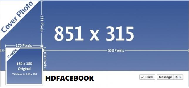 Kích thước ảnh bìa cá nhân Facebook mới nhất năm 2019 là 851 x 315 pixel