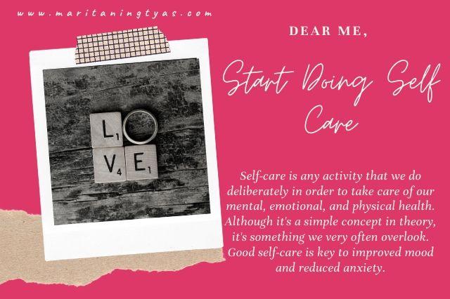 self love and start doing self care
