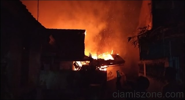 12 Lokal Rumah Kontrakan Ludes Terbakar, 7 KK Ngungsi ke Kelurahan