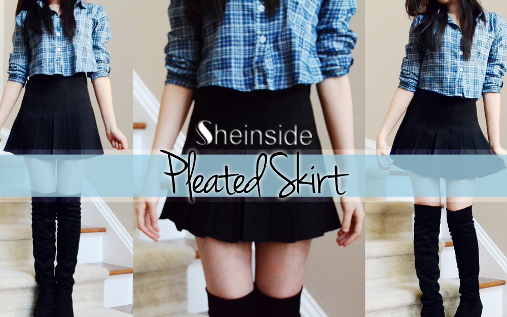 4a8bbb2c6 Intro picture for the Eat My Knee Socks fashion review of the pleated  tennis skirt from