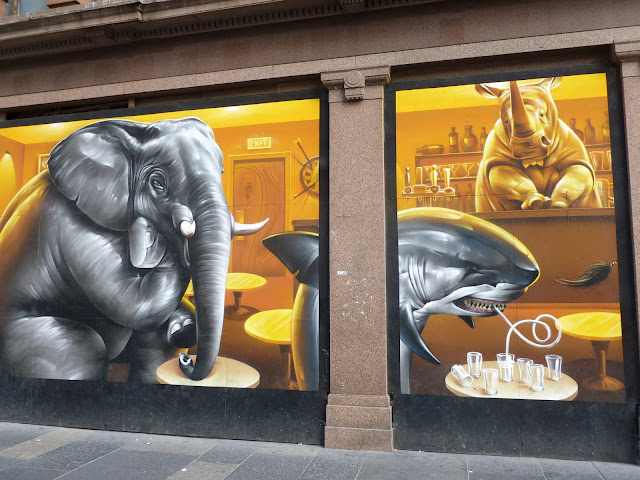 Smug Argyle St Cafe graffiti Glasgow
