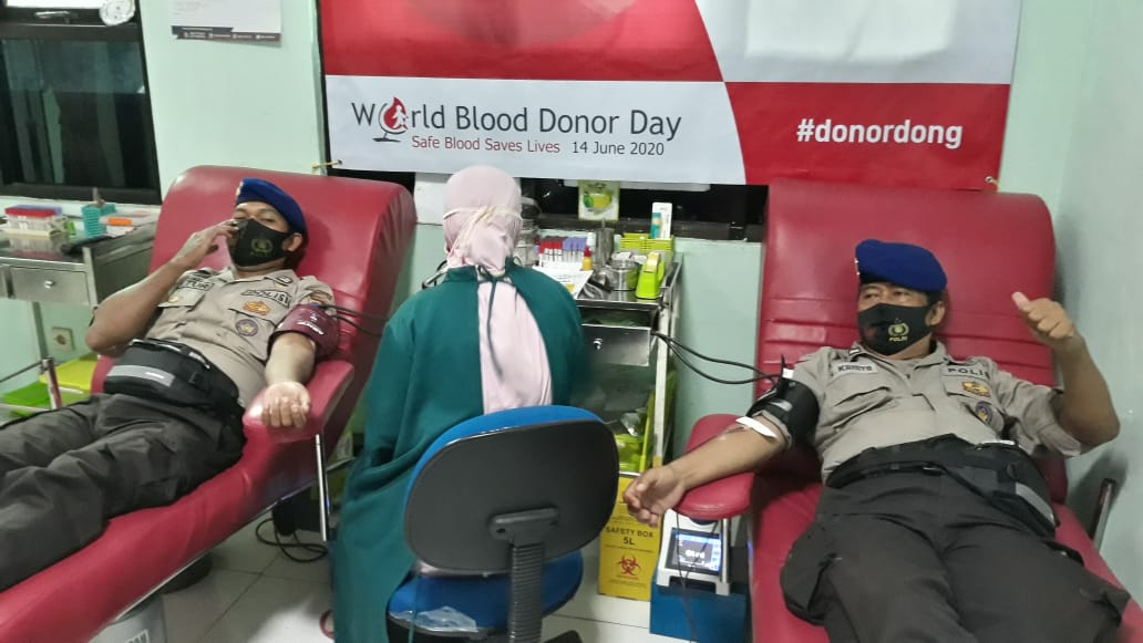 HUT Polairud, Sat Polair Polres Kebumen Gelar Aksi Donor Darah